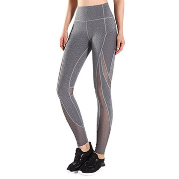 9ff42510e2284 China Women's Workout Leggings, High-waist with Side Pockets Yoga Pants for  Running Sports ...