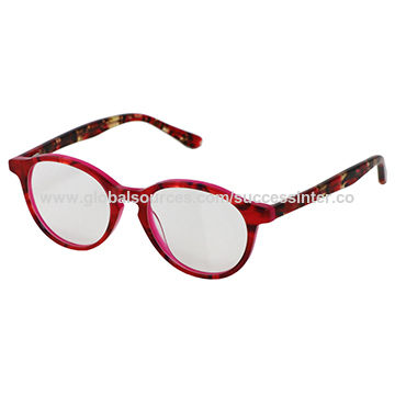 01d2412d398 China 2018 Women's Fashionable and Colourful Plastic Optical Glasses with  Acetate Material ...