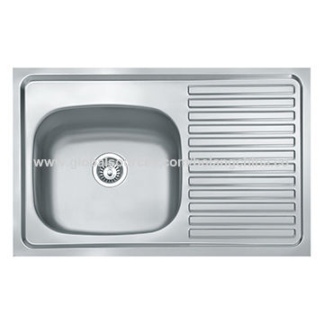China Kitchen sink/stainless steel sink(one-step-forming, single ...