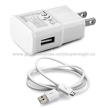 China 5V 1A/2 1A micro USB cable wired travel charger with