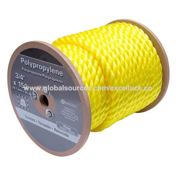 China Polypropylene rope 8 strand 16mm 20mm pp monofilament elastic