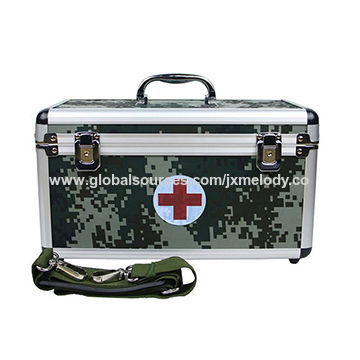 China Army Green Aluminum Medical Military First Aid Kit Box