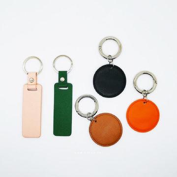 Men Leather Simple Keyring Keychain Keyfob Car Key Chain Holder Stainless Steel