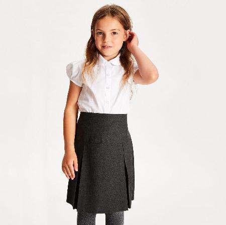 A-PLUS SUPPLY School Uniform Girls Short Sleeve Peter Pan Blouse
