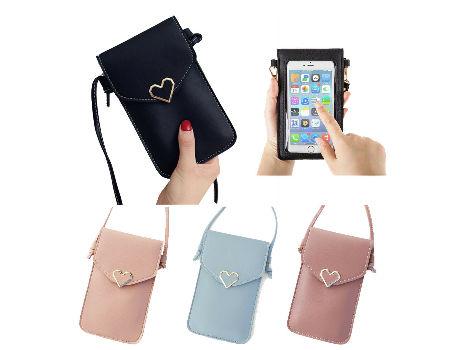 US Air Force UASF Mini Crossbody Cellphone Purse PU Leather Shoulder Bags Wallet Pouch Handbag