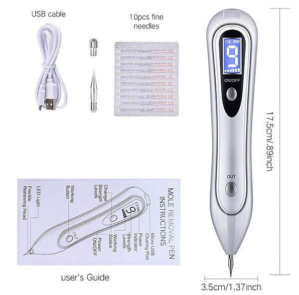 China Usb Lcd Laser Skin Tag Freckle Wart Dot Mole Remove Pen Dark