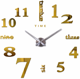 China Classic Arabic Numerals Large-Size 3D Acrylic Wall Clock