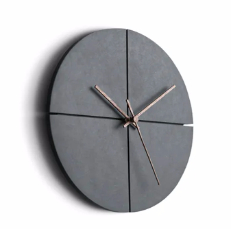 China Round Creative Brief Mute MDF Wood Hanging Wall Clock with Needle