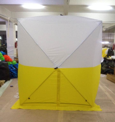 China 3x3m work tent with yellow & white colour