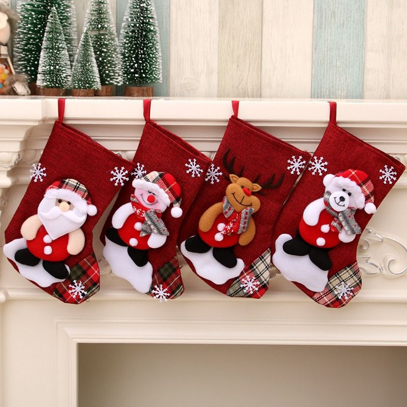 China Christmas Tree Hanging Party Tree Xmas Decor Santa Stocking Sock Gift Candy Bags Lovely Gift Bag For On Global Sources Designer Stockings Stocking Caps Dog Christmas Stockings