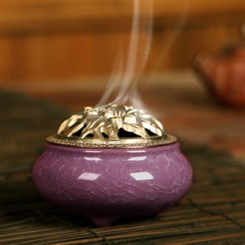 Details about  /Ceramic Incense Burners Portable Porcelain Censer Buddhism Home Holder Decor