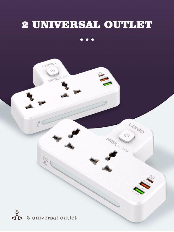 LDNIO Universal 2 port + 1PD + 1 QC 3.0 + 1 USB POWER SOCKET (SC2311) 2