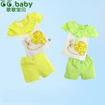100 Cotton Cute Summer Baby Girl Clothing Sets Newborn Babies Shirt
