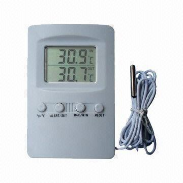 Digital Room Thermometer, Ideal for Indoor/Outdoors, with Alert ...