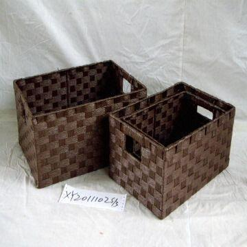 Paper Rope Storage Basket China Paper Rope Storage Basket