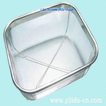 Stainless Steel Wire Mesh Drain Drainer Sink Basket Colander ...