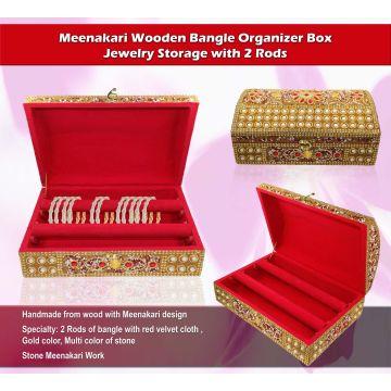 Wooden LacLakh Bangle BoxJewelry Box Organizer Global Sources