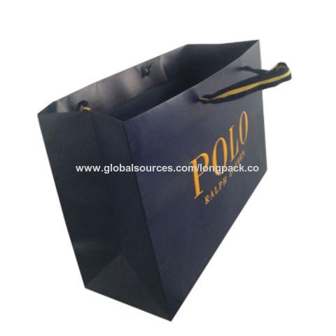 592c79efc1 China High quality luxury brand paper gift bag POLO paper shopping bag ...