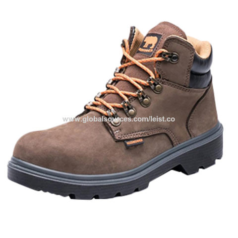China Price steel toe safety shoes nubuck leather woodland work ... fe9fa33d31dd