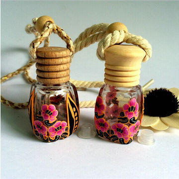 China Colored Refill Empty Car Perfume Diffuser Hanging Bottle