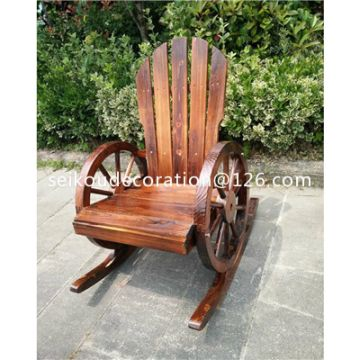 Garden Wooden Wagon Wheel Chair Wc0001 China