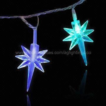 sparkling led star string light premier indoor outdoor decorative