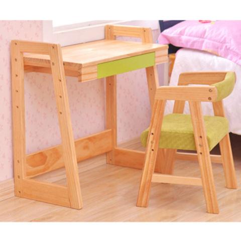 Wooden Children Study Table Chair Set