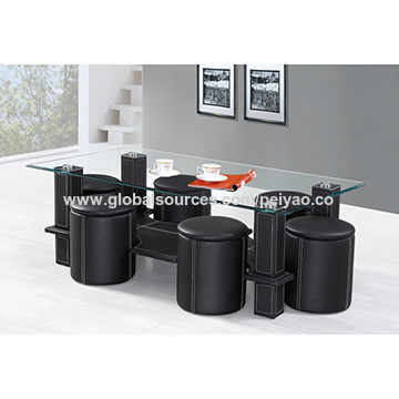 Terrific Coffee Table With Pvc Wrapped Mdf Frame And 6 Stools Gmtry Best Dining Table And Chair Ideas Images Gmtryco