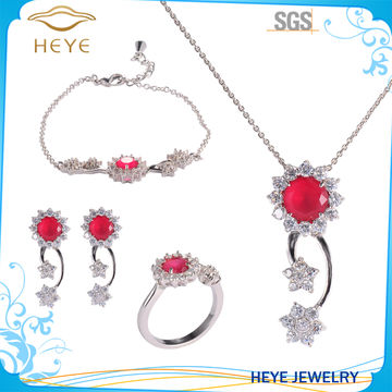 9ef872009 High Quality Wholesale with Women s Cubic Zirconia Flower Bridal Jewelry Set