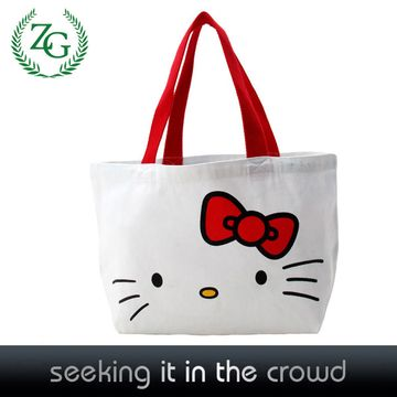 0d4629a97e China wholesale Hello kitty zipper shopping bag tote bag