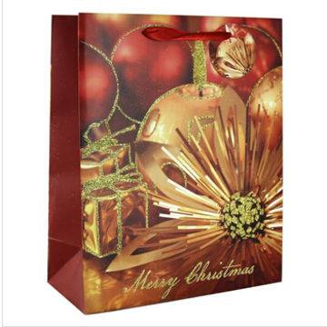 Christmas Gift Bags Ideas.Decorations Gold Balls Paper Christmas Gift Bag Ideas
