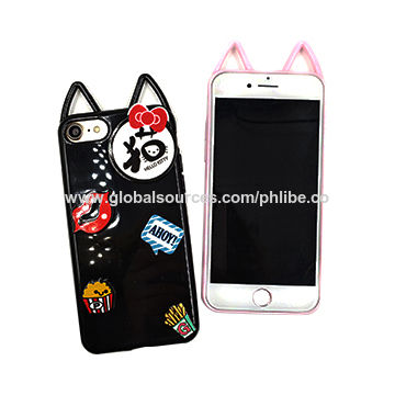 7f29547eac China New Arrival Cartoon 3D Lip Cute Cat Ear Phone Case for iPhone 6 6S  Plus ...