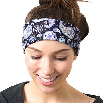 RiptGear Yoga Headbands Women Men Wide Non Slip Design Headband Running Yoga