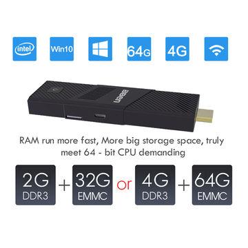 China Intel Cherry Trail Z8350 1.92GHz PC stick Windows 10 4G+64G internal mute fan dual band WiFi BT 4.0