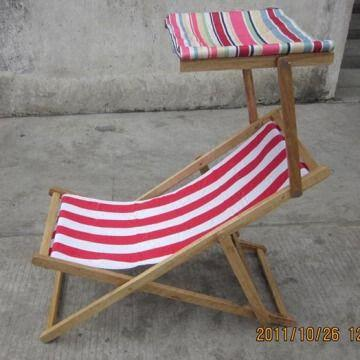 China Promotional Folding Wood Beach Chair With A Roof