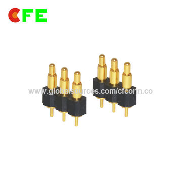 China Standard 3pin DIP gold-plated spring-loaded pogo connector