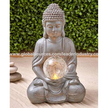 China Bsci Factory Polyresin Solar Light Garden Buddha Statue Buddha Head Sculpture On Global Sources Garden Buddha Buddha Sculpture Garden Sculpture