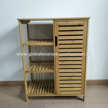 China Bamboo Bathroom Storage Cabinet On Global Sources Bathroom Cabinet