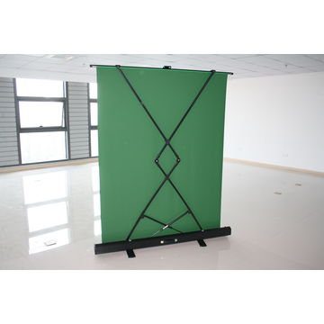 Collapsible chroma key panel background removal pop up green