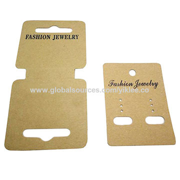 China Whole Custom Logo Cardboard Hang Tag Printed Necklace Earring Jewelry Display Cards