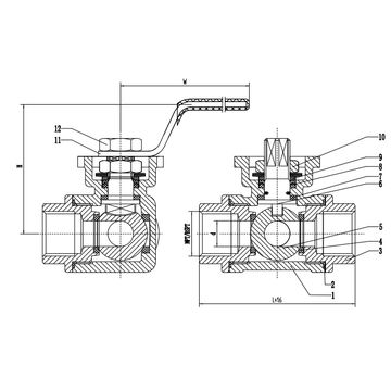 1000 china stainless steel 3-way ball valve, reduced bore, threaded  end, 1000