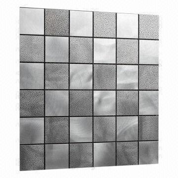 Aluminum Mosaic Tiles Circular Brushed