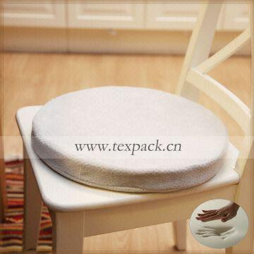 memory foam round chair cushion with tie knot available