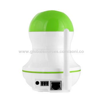 Pan&Tilt Home Security baby monitor,11pcs IR LED for night vision,PIR detection,alarm notification