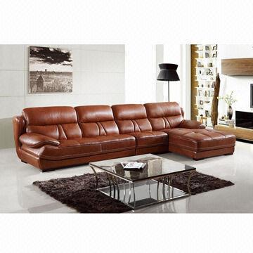 Sectional Leather Sofa Made of Top Grain Leather with Nice