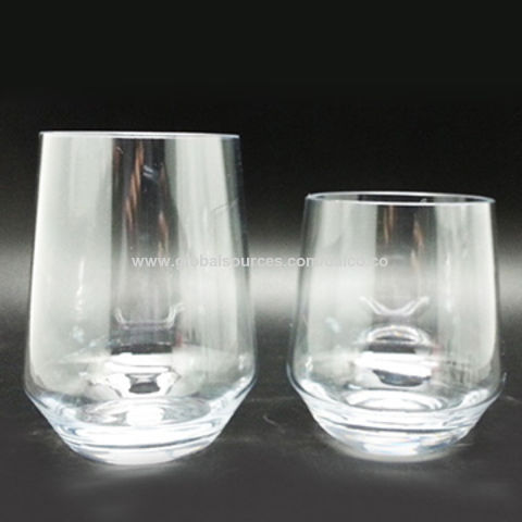 Taiwan Stemless Lexington Wine Gles By Crystal Clear Unbreakable