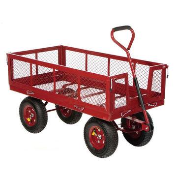 ... China Four Wheels Steel Mesh Heavy Duty Garden Tool Cart ...