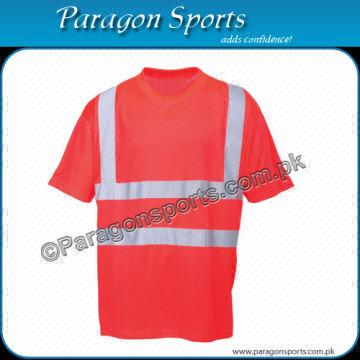6dce8533b Hi-vis Safety T-Shirt with Reflective Tape Material  Polyester ...