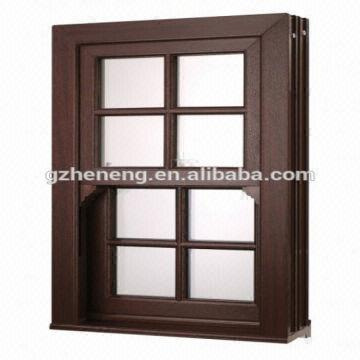Wooden single hung window pvc window frame pvc sliding for Pvc window frame