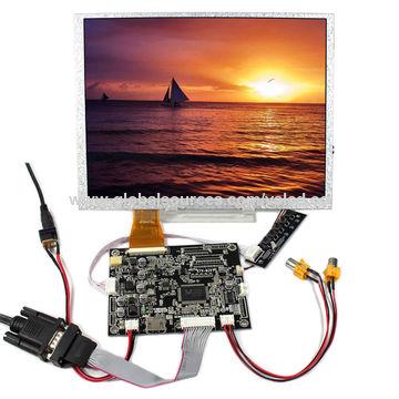 HDMI+DVI+VGA+Audio Controller Board with 8.4inch LCD Display AA084SC01 800x600